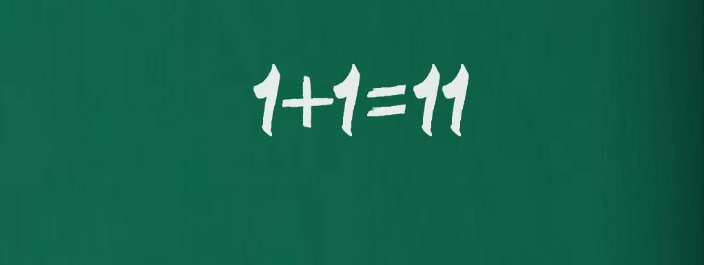 1+1=11